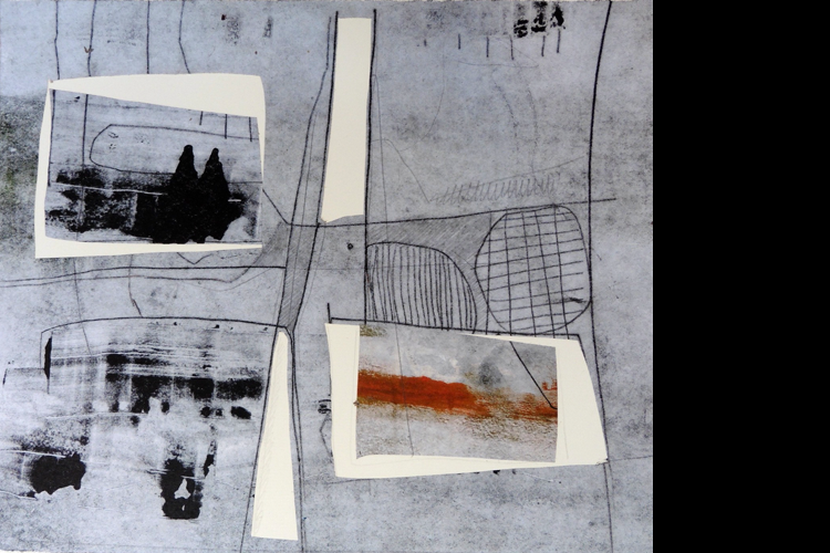 'Reflection', Collage, 34 x 39 cm, £595