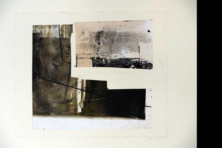 'Painting in the Void', Collage, Private Collection