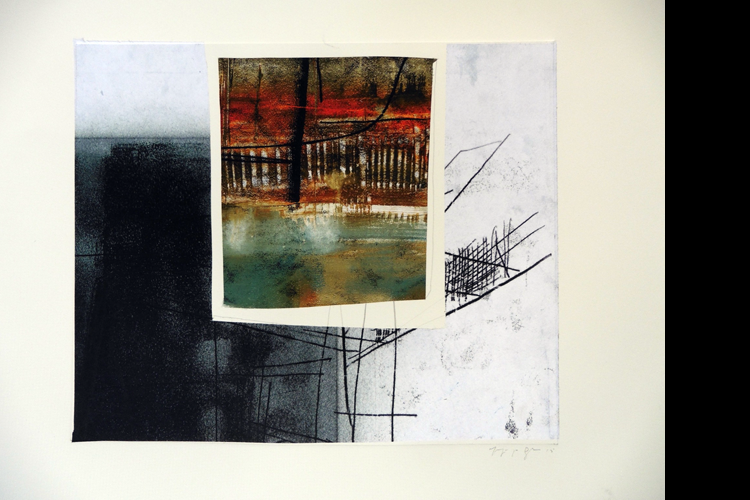'View of the Here and Now', Collage, 34 x 39 cm, £595