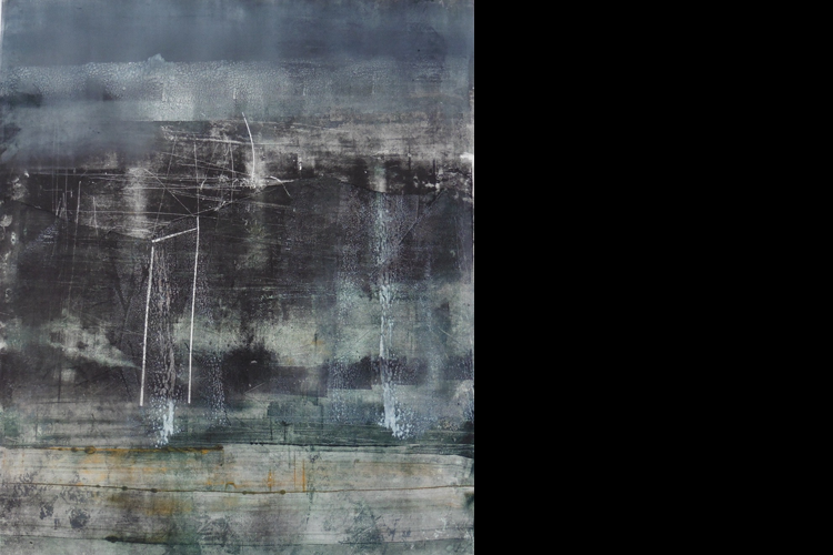 'The Politics of Space', Oil on Paper, Private Collection