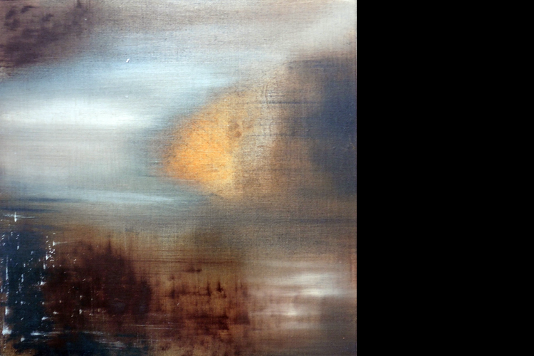 'Orange Haze II', Oil on Board, 40 x 40 cm, £1000