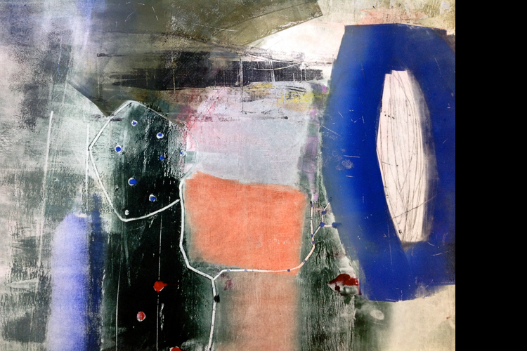 'Blue Circle', monoprint, 80 x 100 cm, £1,750 SOLD